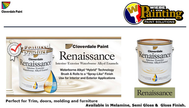 Wiebe Paints - Cloverdale Paint in Steinbach, Manitoba - Home